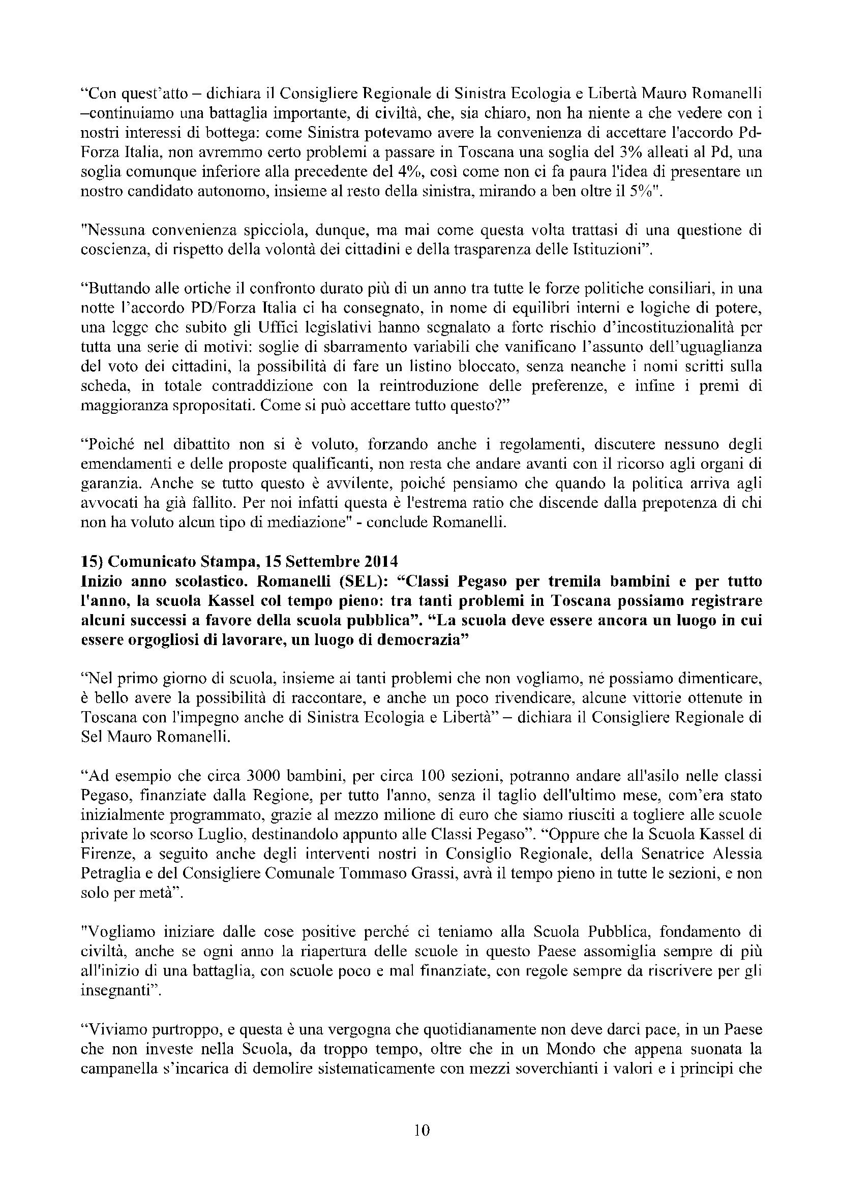 Newsletter di MAURO ROMANELLI Ottobre 2014 – 10