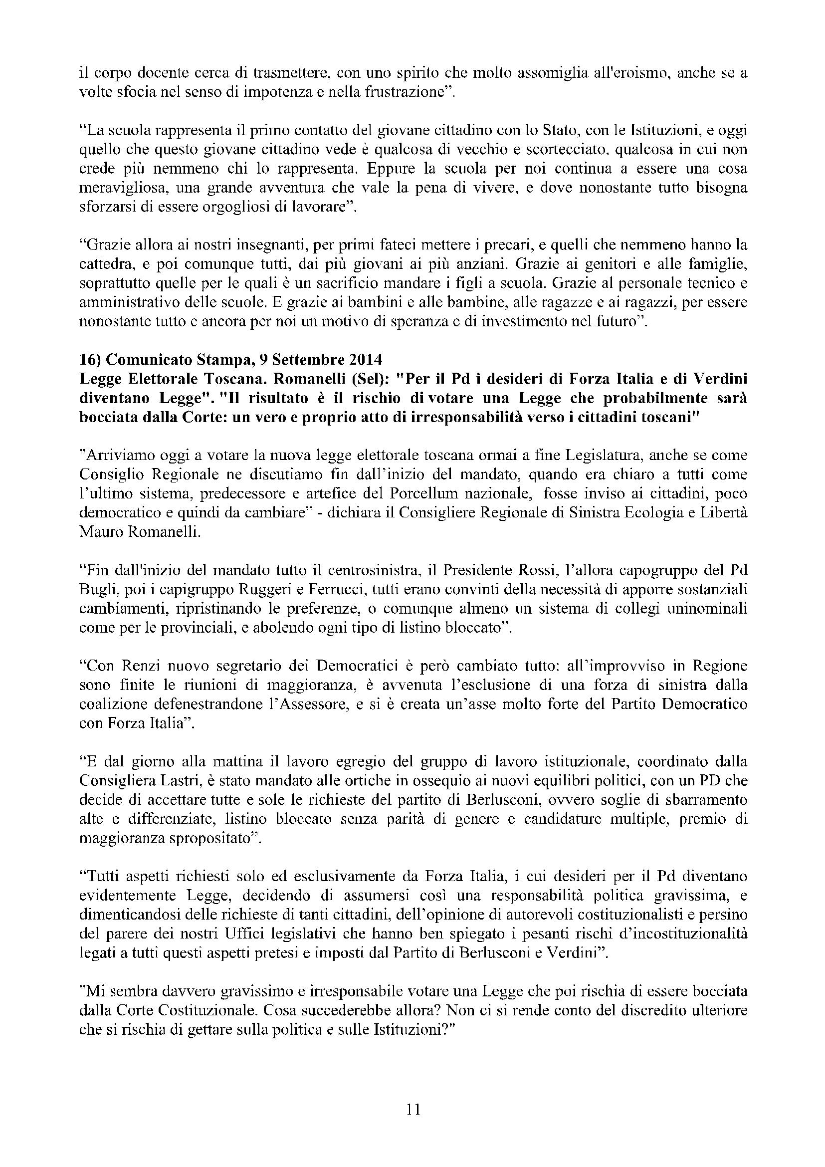 Newsletter di MAURO ROMANELLI Ottobre 2014 – 11