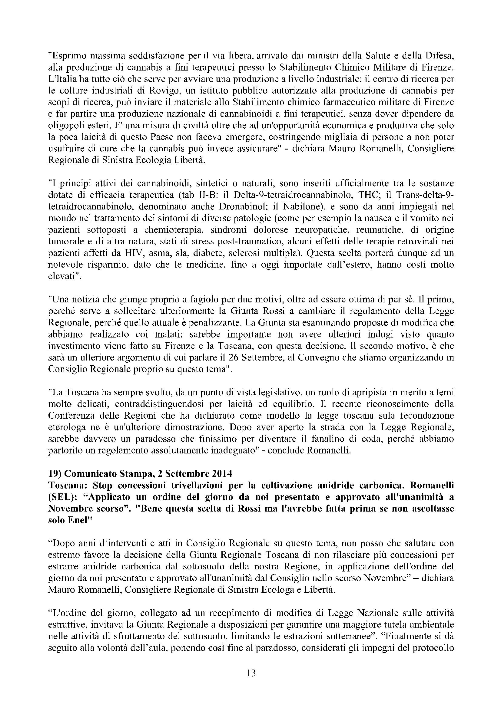 Newsletter di MAURO ROMANELLI Ottobre 2014 – 13