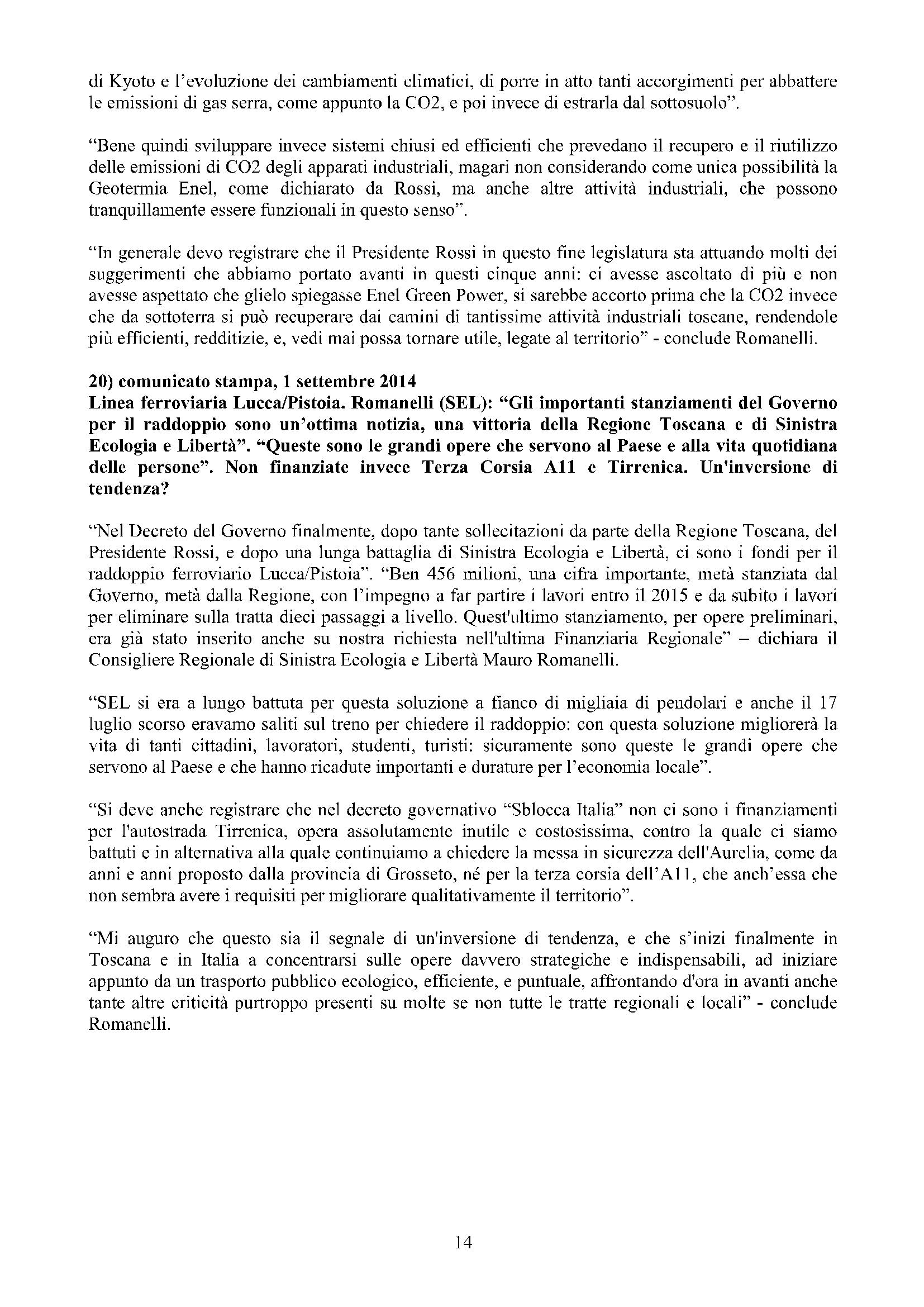 Newsletter di MAURO ROMANELLI Ottobre 2014 – 14
