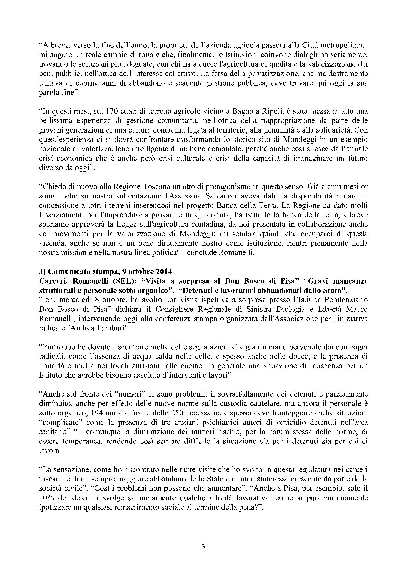 Newsletter di MAURO ROMANELLI Ottobre 2014 – 3