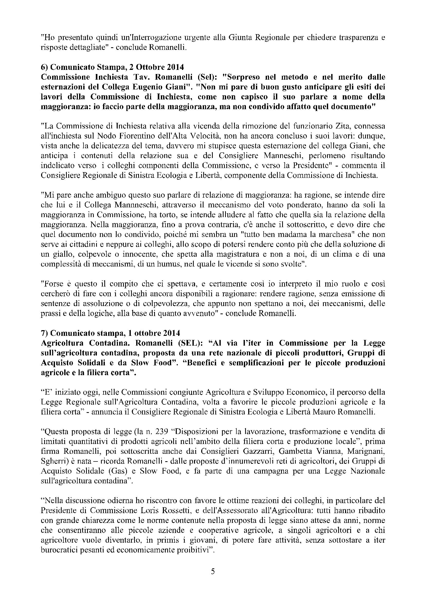 Newsletter di MAURO ROMANELLI Ottobre 2014 -5