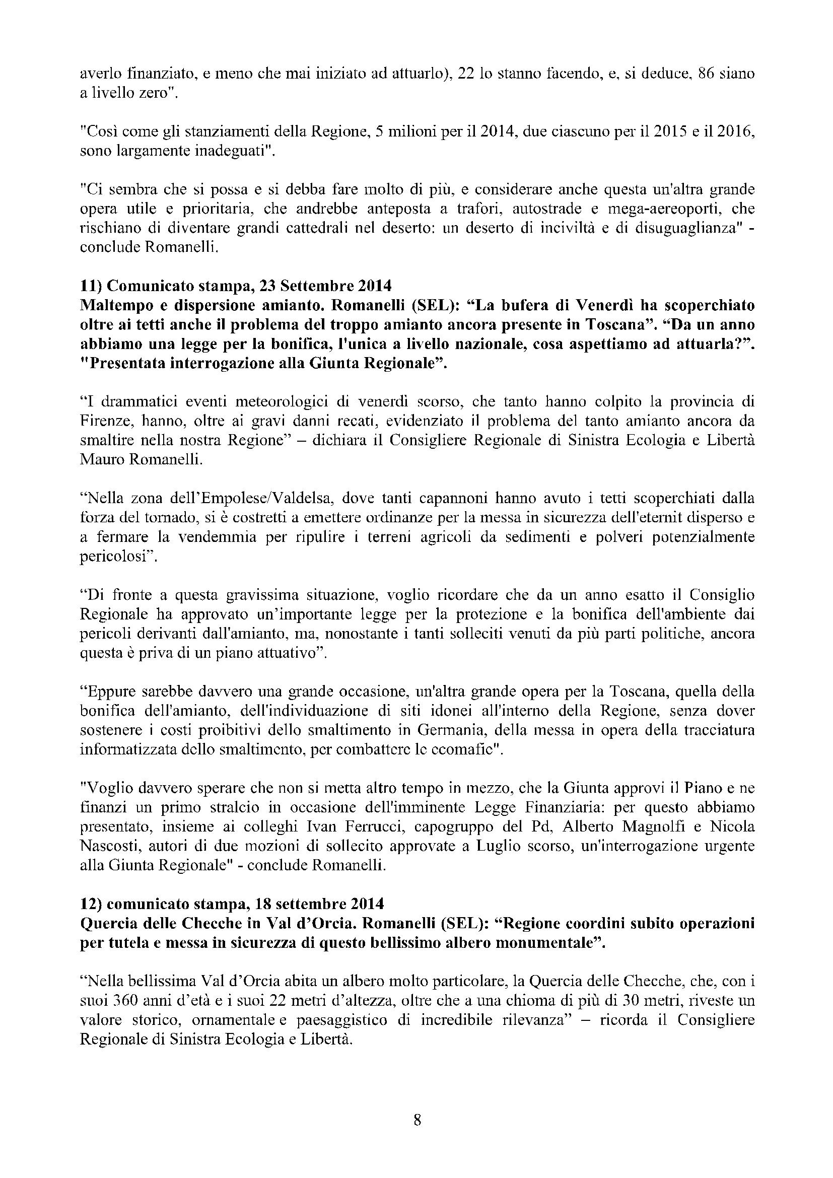 Newsletter di MAURO ROMANELLI Ottobre 2014 -8