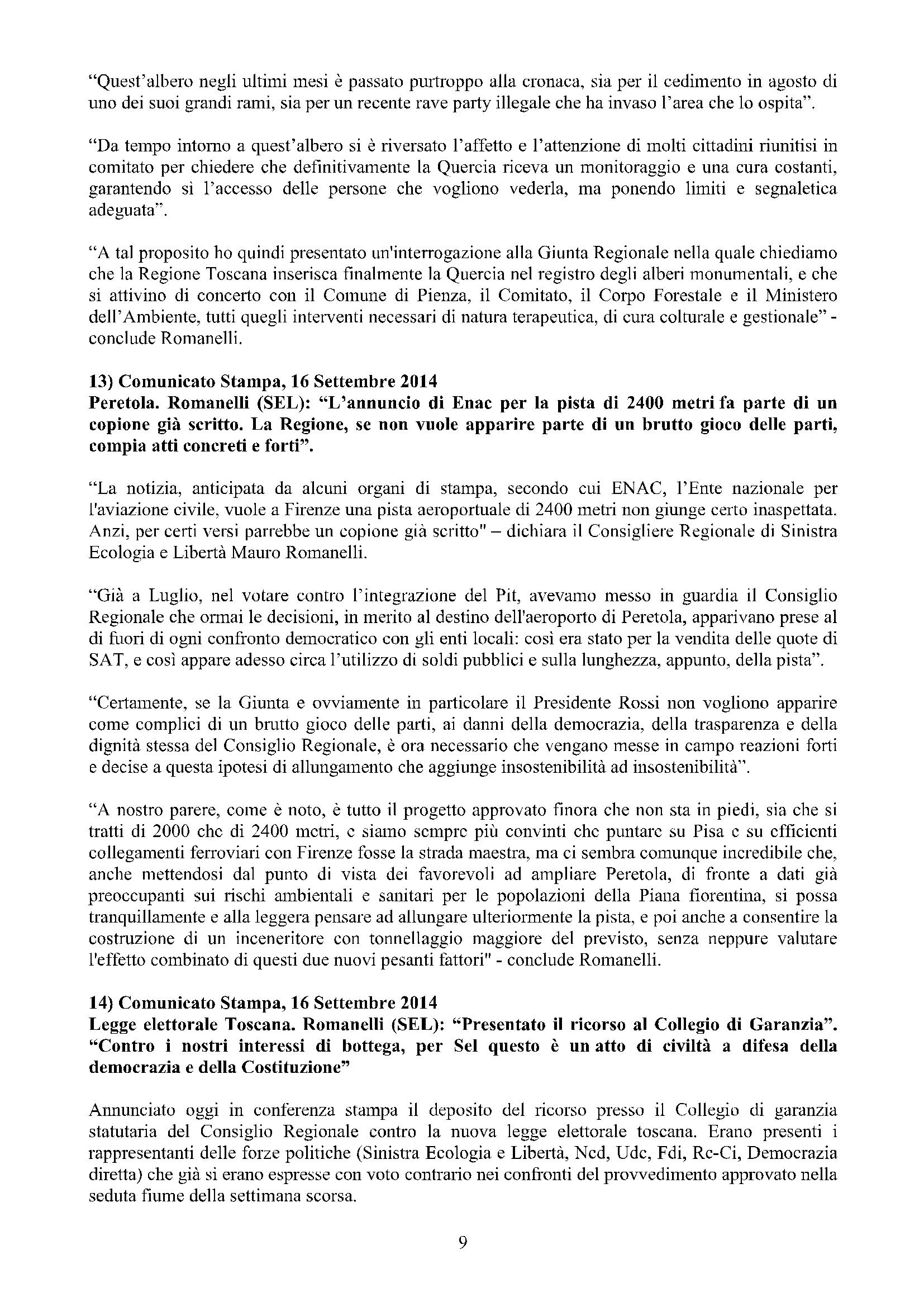 Newsletter di MAURO ROMANELLI Ottobre 2014 – 9