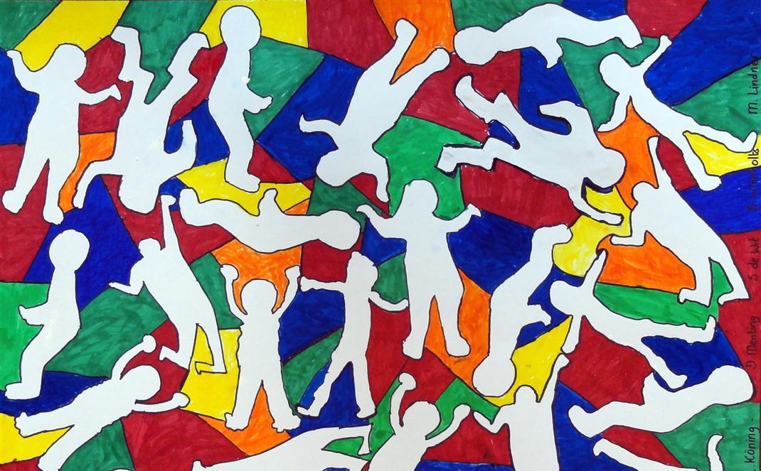 keith-haring-group-work-art-lesson-medium