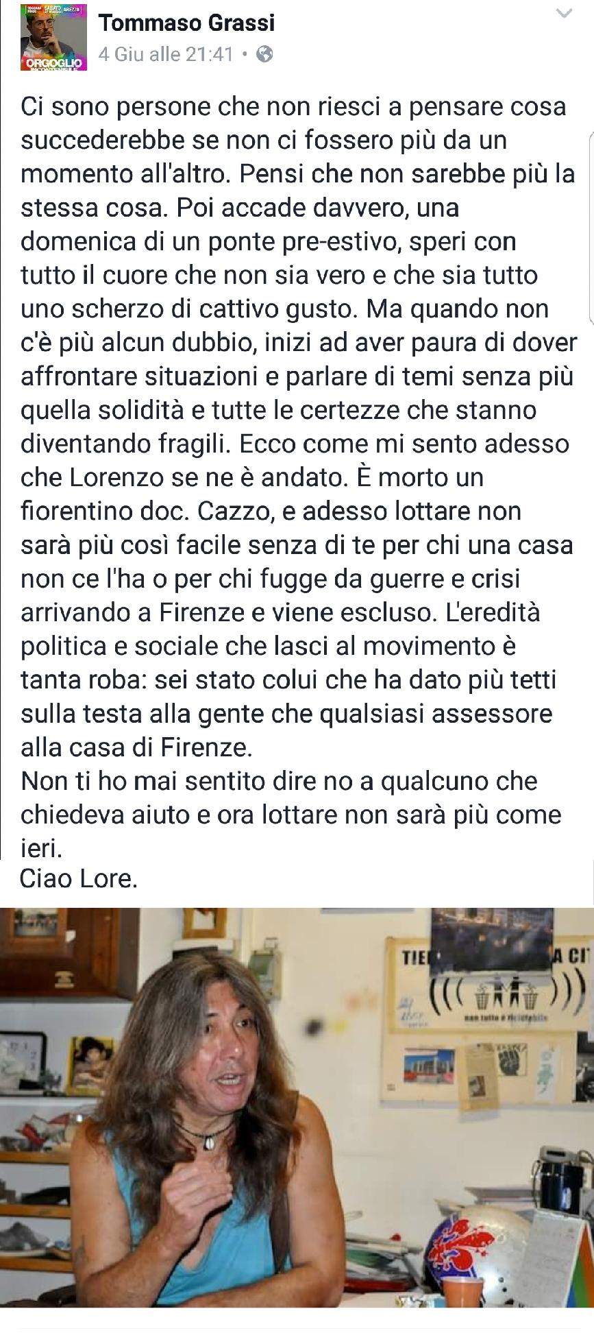 Post morte Bargellini Lorenzo