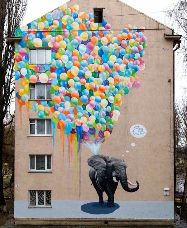 street art elefante