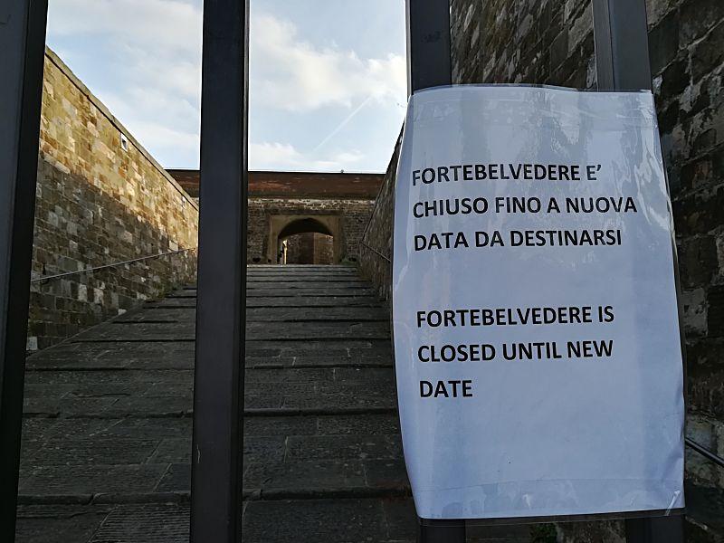 Forte Belvedere chiuso
