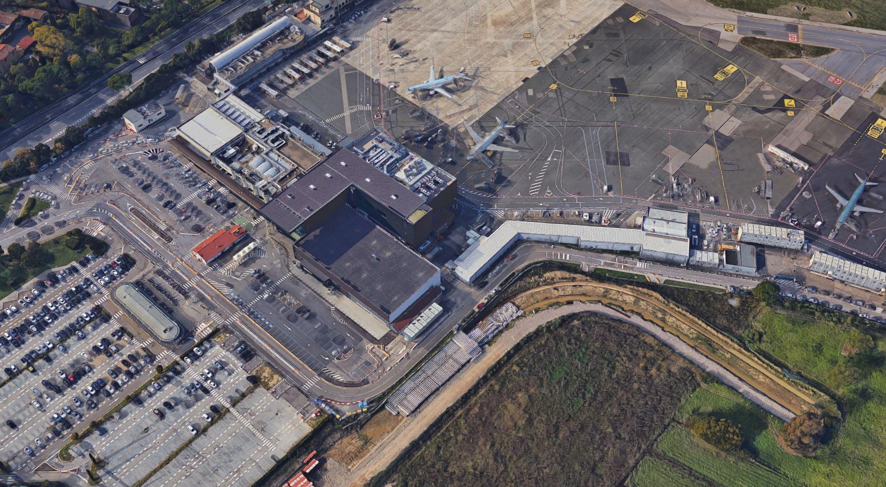 aeroporto vista dall'alto
