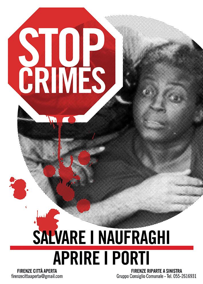 Manifesto Stop ai crimini